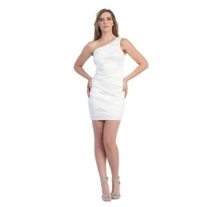 Mayqueen Dresses - Cheap! Short one shouldered May Queen dress