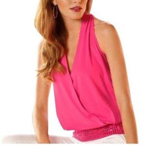 Boston Proper Tops - Boston Proper Pink Sleeveless Blouse Top Sequins