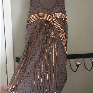 Dresses & Skirts - Brown sequin dress