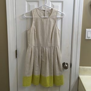 GAP linen and cotton fit and flare dress