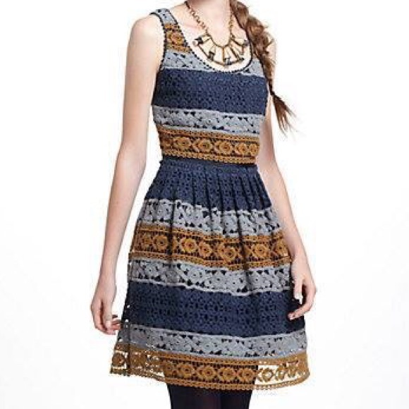 Anthropologie Dresses & Skirts - Anthropologie Striated Lace Dress Maeve sz 0 BNWT