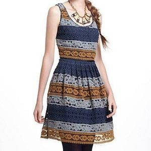 Anthropologie Striated Lace Dress Maeve sz 0 BNWT