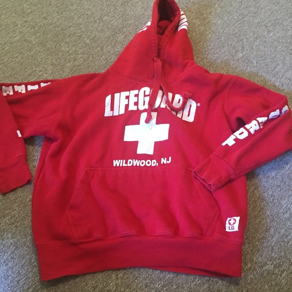 9493a9cbfab7a Wildwood NJ Lifeguard Sweatshirt. M 57c334ad5a49d02643009c7a