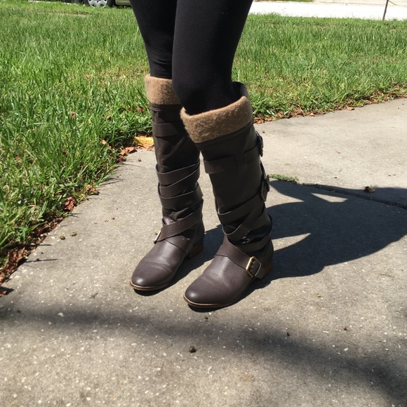 83 colin stuart shoes brown knee high boots from