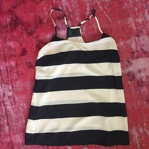 Jcrew silk striped tank