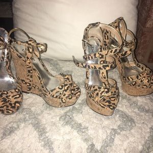 Two pairs Bebe shoes size 6.5