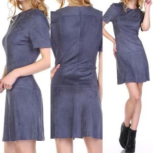‼️SALE‼️Faux Suede A-Line Dress-Charcoal