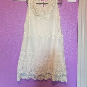 Little Miss Other - Exquisite lace dress with beaded collar