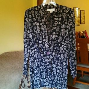 Vintage 1990s Nautical Print Lightweight Blazer