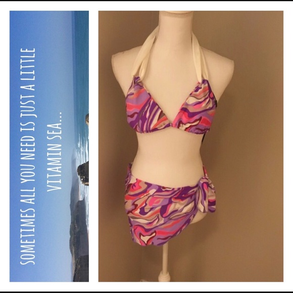 63% off Other - New Swimsuit With Matching Beach Wrap Mini