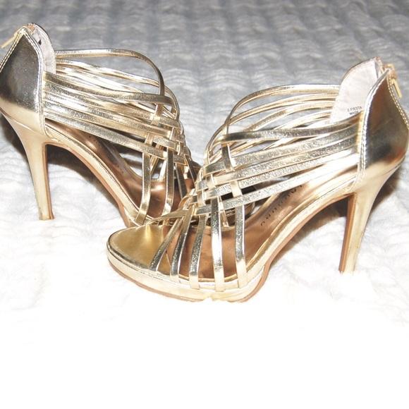 Chinese Laundry Shoes Gold Stiletto Heels Poshmark