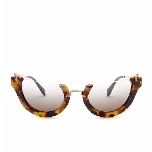 0584f73c066 ... Miu half rim sunglasses. M 57c348e1a88e7d5e31041484