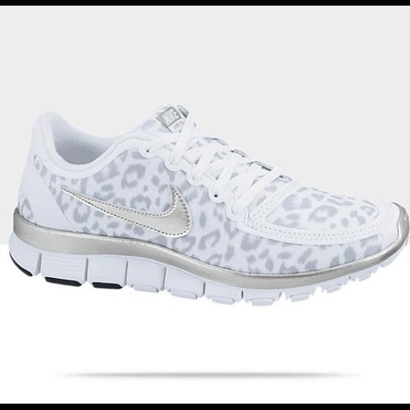 30c69dec78ebe Nike Shoes | White Leopard Print Sneakers | Poshmark