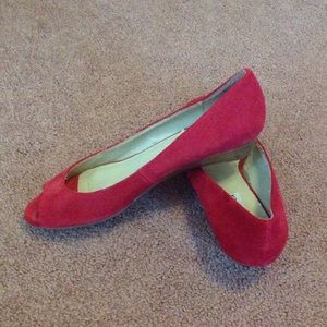 Red Steve Madden peep toe