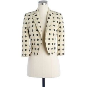 NWT J. Crew Domino jacquard cropped jacket