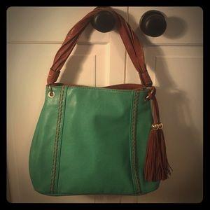 Beautiful Handbag with brown tassel