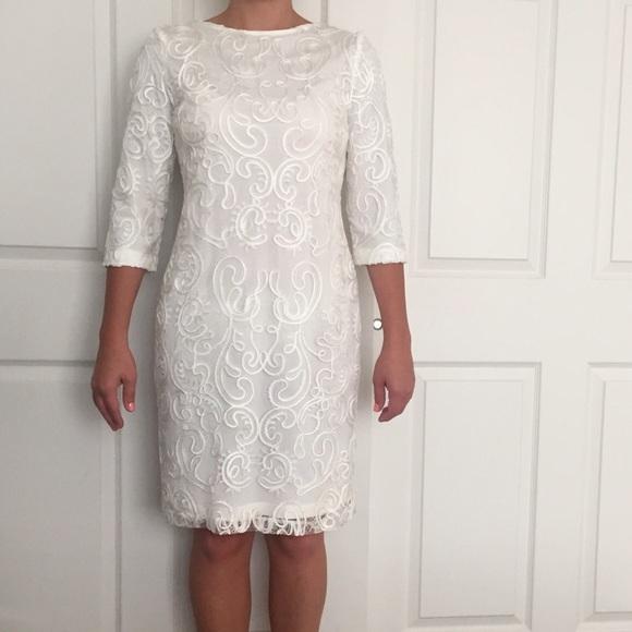 Nordstrom Dresses & Skirts - Debbie Shuchat Nordstrom Ivory Filigree Sheath sz6