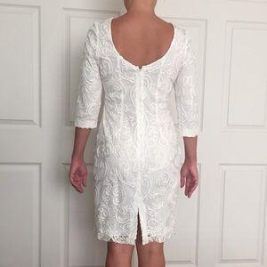 Nordstrom Dresses - Debbie Shuchat Nordstrom Ivory Filigree Sheath sz6
