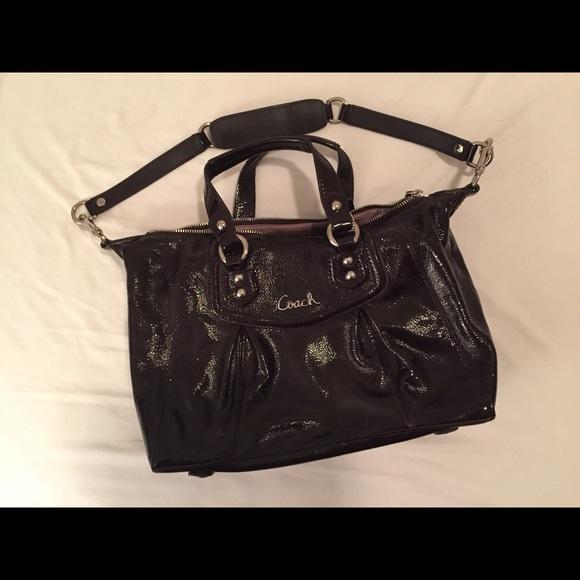 Coach Handbags - Brown Patent Leather Coach Purse