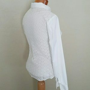 Classic white blouse with lace back
