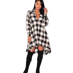 Dresses & Skirts - 🆕Long Sleeves Plaid Casual Shirt Dress
