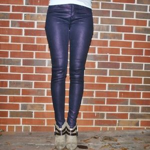 Hudson Purple Jeans with Zippers