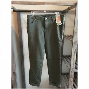 Jag Jeans Pants - JAG :: Cuffed Ankle Pant :: Army Green