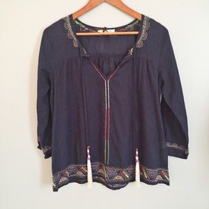 Solitaire Tops - Solitaire embroidered tunic