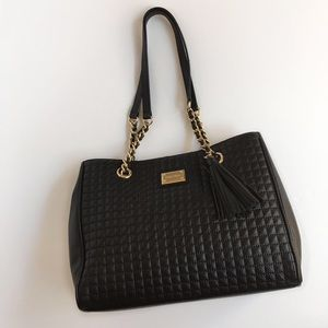 Calvin Klein Bags Hastings Quilted Pebble Leather Tote