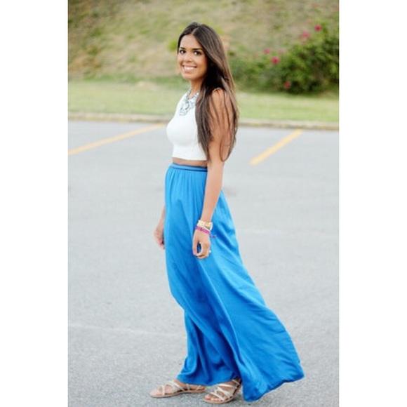 26 zara dresses skirts zara blue maxi skirt from
