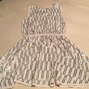 White Sequined Party Dress