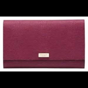 NWT Kate Spade Bristol Drive Red Plum Wallet