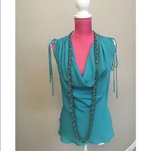 Robert Rodriguez Blouse Removable Chain Necklace