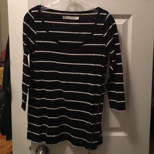 Madewell side zipper long sleeved shirt