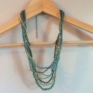 Jewelry - Blue & Green Beaded Necklace