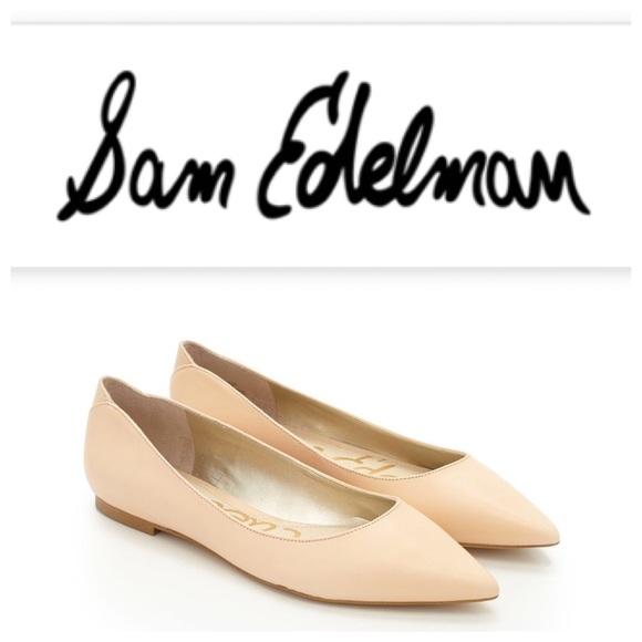 d42699afe NWOT Sam Edelman Rae Pointed-Toe Nude Flat. M 57c37bc256b2d6d192013764