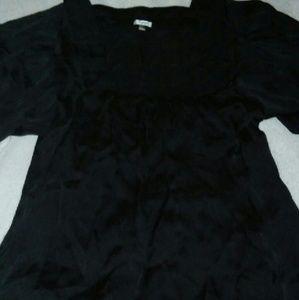 Agora  Tops - Agora Black Silk Shirt*****SALE*****