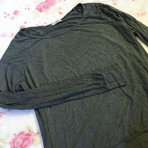 Gray Workout Sweater Activewear