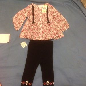 Baby girl 3-6 month 2 piece outfit