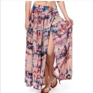billabong billabong purple maxi tie dye skirt sz sm