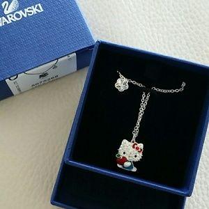 2956c1026 Swarovski Jewelry   Hello Kitty Red Apple Pendant Necklace   Poshmark