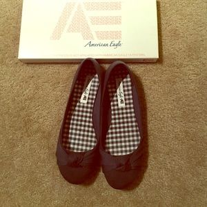 American Eagle by Payless Shoes - Navy cloth ballet flats