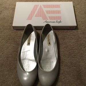 American Eagle by Payless Shoes - Gray leather scoop ballet flats