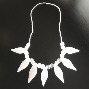 Natural white/clear stone necklace