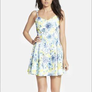 J.O.A floral print dress