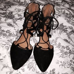Black Lace Up Mossimo Flats