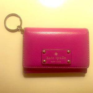 Kate Spade Mini Wallet Key Chain Pink