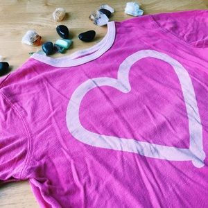 Life is Good Other - SALE! Pink Heart Good Kids Short Sleeve Tee