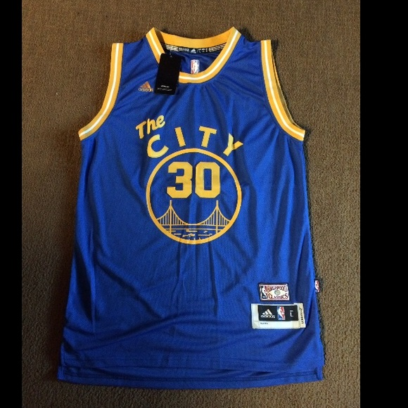 buy online 6ec95 a7cba FLASH SALE** NWT Steph Curry Blue The City Jersey NWT