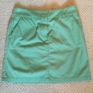 JCrew chino mini skirt